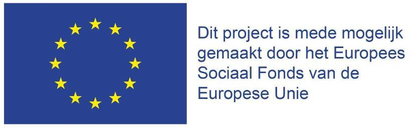 Sponsoring door het Europees Sociaal Fonds van de EU